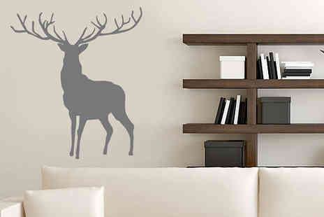 Wundur - Stag Wall Sticker Design in 3 Colours - Save 73%