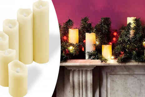 Fusion - Six LED Vanilla Scented Candles - Save 70%