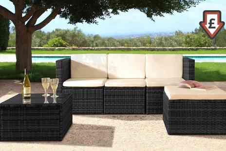 Groupon Goods Global GmbH - Mustique Rattan Effect Sofa Set With Free Delivery - Save 75%