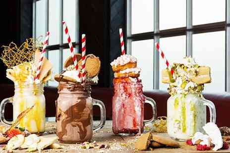 Old Daves Gourmet Burger - Choice of Two Freakshakes - Save 38%