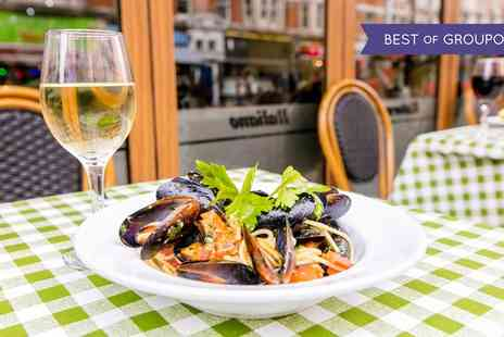 Amarcord Italian Restaurant - Two or Three Course Italian Meal with Prosecco for Two - Save 45%