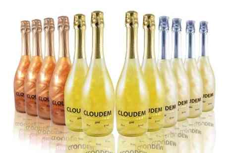 The Vineyard Club - 12 Bottles of Shimmer Effect Sparking Wine in Silver, Gold and Bronze With Free Delivery - Save 63%