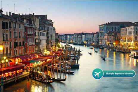 Weekender Breaks - Two or three night 4 Star Venice break including flights and a bottle of wine - Save 43%