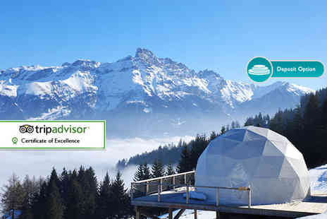 Great Pacific Travels - Two or three night Swiss Alpine Whitepod retreat with flights - Save 21%