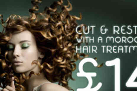 Ego Hair Salon - Cut, restyle and Moroccan conditioning treatment - Save 72%
