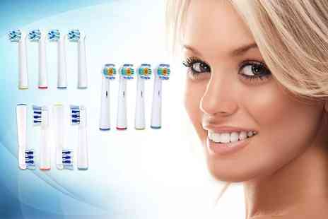 Shop Sharks - Set of eight Oral B compatible toothbrush heads - Save 0%