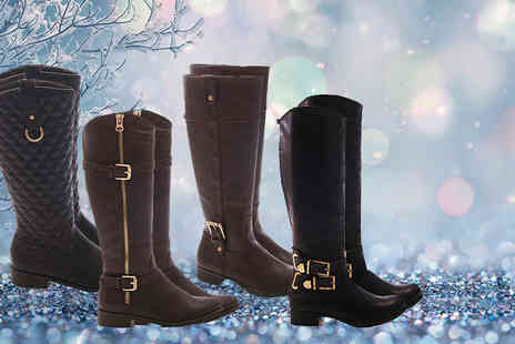 MY UL - Pair of Jessy, Helen, Becky or Chanel riding boots - Save 82%