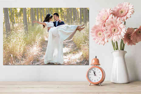 Deco Matters - Personalised A3 photo on canvas - Save 90%