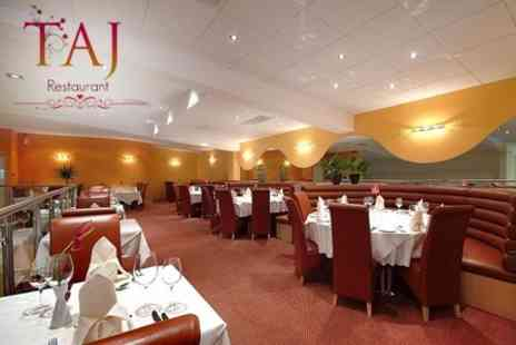 Taj Restaurant - Three Course Indian Meal For Two With Rice for £18 - Save 58%