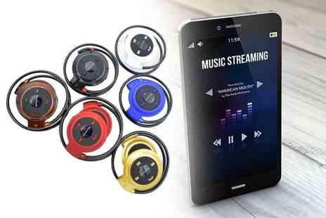EF Mall - Pair of mini foldable Bluetooth headphones choose from six colours - Save 72%