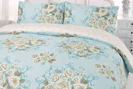 Groupon Goods Global GmbH - Dreamscene Double or King Size Flora Duvet Cover Set - Save 0%