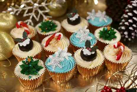 3D Cakes - 12 Luxury Christmas Cupcakes of Choice - Save 77%