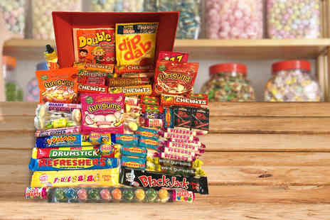 Gift Mountain - Classic retro sweet hamper, monster hamper , bumper hamper or monster wicker hamper - Save 70%