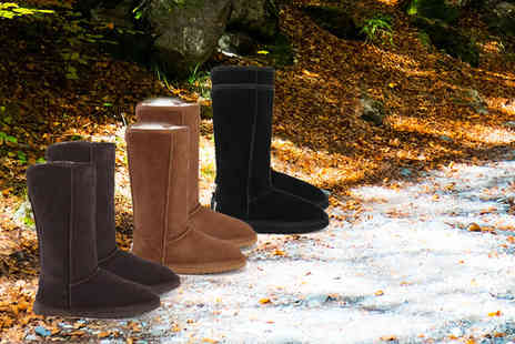 Evaniy Accessories - Pair of tall merino wool boots choose from chestnut, coffee and black - Save 76%