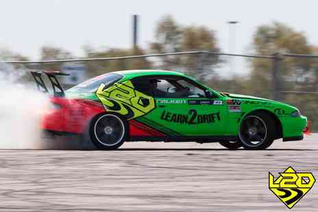 Learn2Drift - Four hour car drifting experience including three passenger laps, - Save 67%