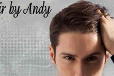 Hair By Andy - Gents Haircut With Conditioning Treatment, Blow Dry, and Head Massage - Save 75%