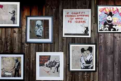 Graff.io - Banksy Framed Canvas Print - Save 0%