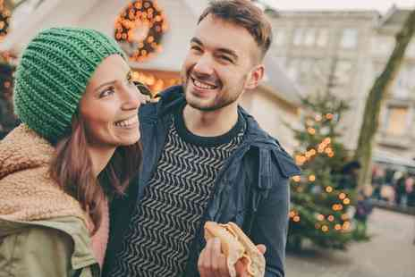 Spinningfields Christmas Market - Bratwurst and Hot Chocolate for Two or Family of Four - Save 0%