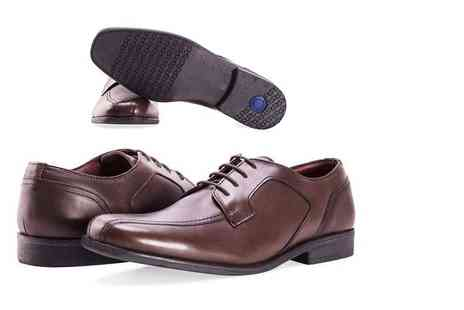 Shoeprimo - Mens cushion step brown Gibson shoe - Save 67%