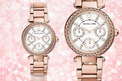 Gray Kingdom - Rose gold plated Michael Kors Mini Parker MK5616 watch - Save 46%