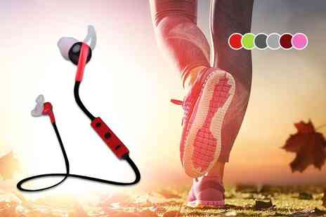 EF Mall - Pair of wireless sports style bluetooth earphones - Save 78%