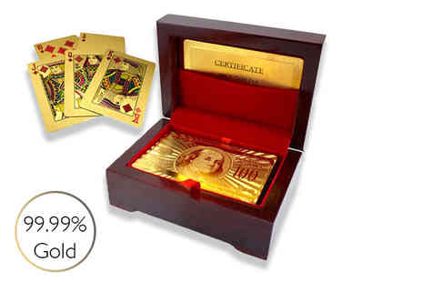 Partikle - Set of 24K gold plated playing cards - Save 64%