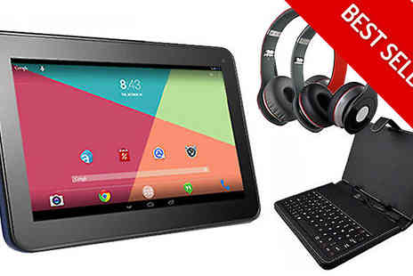 Supreme Direct - Android Tablet, Headphones & Keyboard Bundle - Save 79%