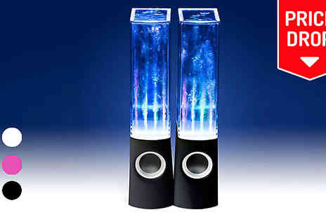 Chimp Electronics - LED Dancing Water Speakers Three Colours - Save 80%