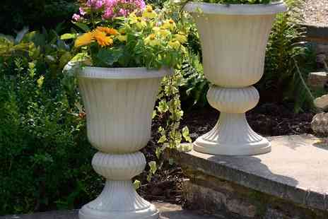 Groupon Goods Global GmbH - Two Pack Sandstone Urn Planters - Save 0%
