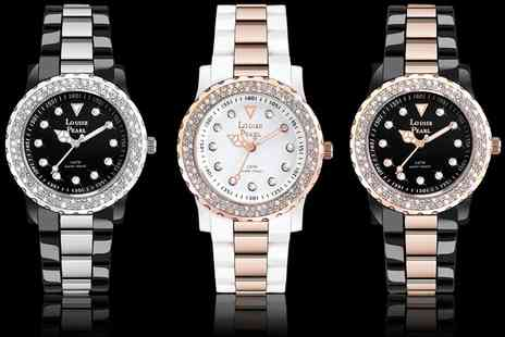 Groupon Goods Global GmbH - Louise Pearl Womens Watch with Crystals from Swarovski - Save 0%