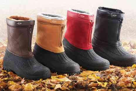 Groupon Goods Global GmbH - Fleece Lined All Weather Boots - Save 0%