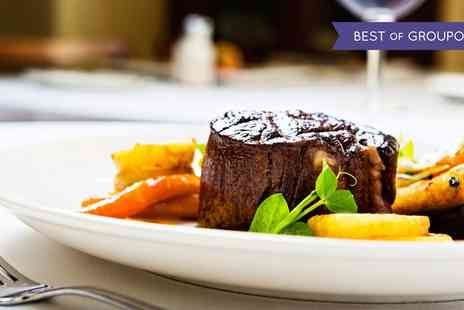 Doubletree Hilton - 6oz Steak with Chips and Two Glasses of Wine for Two or Four - Save 0%