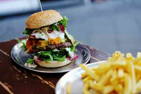 Sizzlen Shake - American Burger or Hot Dog with Chips and a Coleslaw Salad for Two or Four - Save 49%