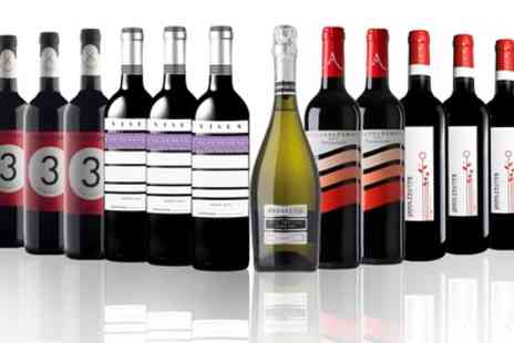IBERVILLA FINE FOODS - 12 Bottles of Red, White or Mixed Wine Prosecco With Free Delivery - Save 54%