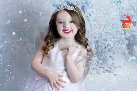 Studio O & A - Hour long winter princess and elves photoshoot for four children with a keyring and two prints - Save 86%