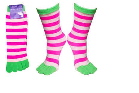 Ckent - Two pairs of colourful & comfy toasty toe socks - Save 60%