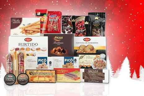 Easy Gifts - Spanish Christmas food hamper including charcuterie, sweets, canned goods and more - Save 44%