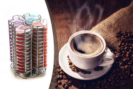 Home Empire - Rotating 48 Tassimo coffee pod holder - Save 70%