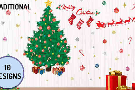 Walplus - English, French or Italian Christmas Wall Art Stickers Choose from 10 Designs - Save 58%