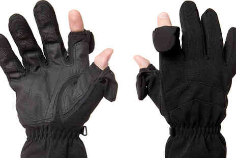 Easy Off Gloves - Thinsulate Fold Back Finger Tip Photography Gloves - Save 0%
