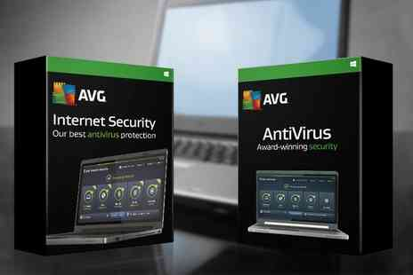 Binary Distribution - Three User Two Year AVG 2016 License Antivirus or Internet Security - Save 0%