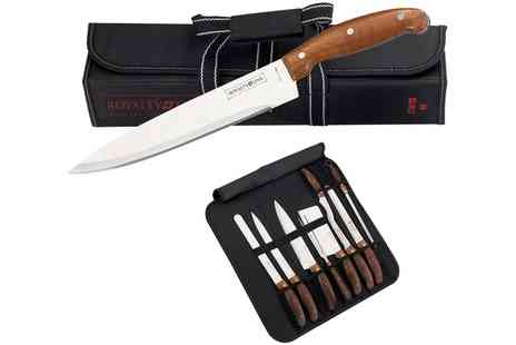 Groupon Goods Global GmbH - Set of Nine Royalty Knives in Bag - Save 0%