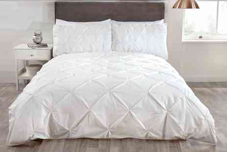 Groupon Goods Global GmbH - Balmoral Pintuck Duvet Set - Save 63%