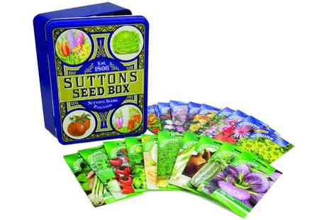Suttons Seeds - Heritage Seed or Sunflower Tin with 20 Seeds and £5 Voucher or Both Include Free Delivery - Save 0%