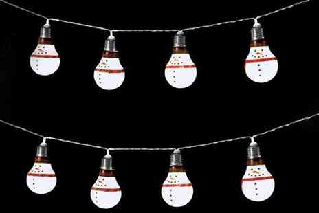 Groupon Goods Global GmbH - 10 LED Bulb String Lights in Choice of Design - Save 0%