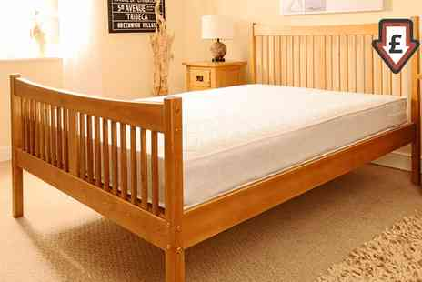 Groupon Goods Global GmbH - Handmade Shaker Bed Frame With Mattress Into Free Delivery - Save 0%