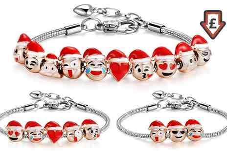 Groupon Goods Global GmbH - Christmas Emoji Charm Bracelets - Save 0%