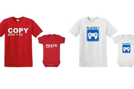 Groupon Goods Global GmbH - Baby Bodysuits with Matching Dads TShirts - Save 0%