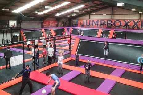 Jump Boxx - One Hour Trampoline Park Access with Grip Socks for Up to Four - Save 31%
