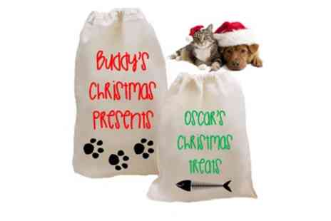 Treats on Trend - Personalised Christmas Pet Sack - Save 72%